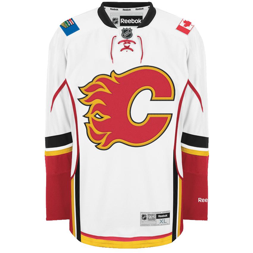 f34b5168c Reebok Calgary Flames Away Adult s Jersey Custom